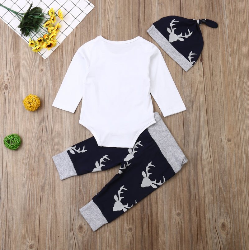 'Little Man' Deer Outfit with Beanie