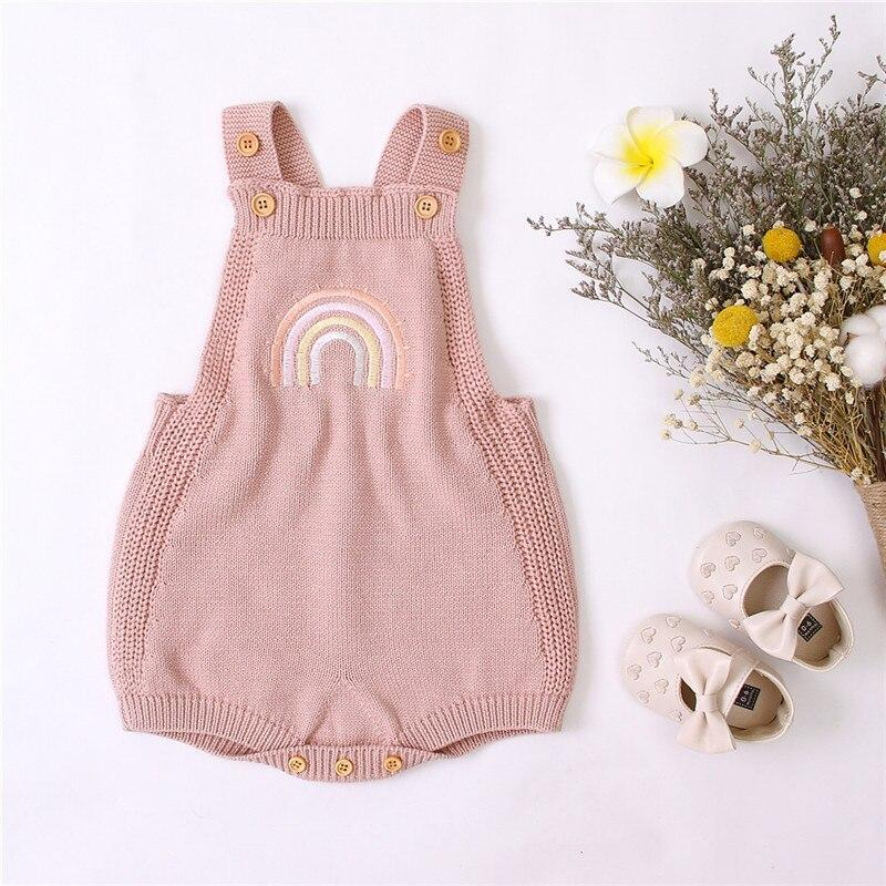 'Rainbow' Knitted Romper