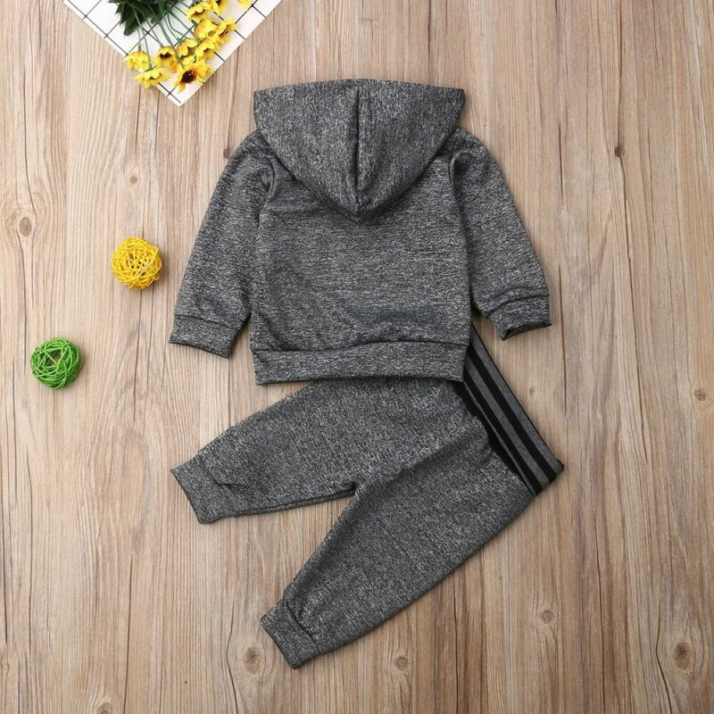 Gray Striped Hoody Outfit