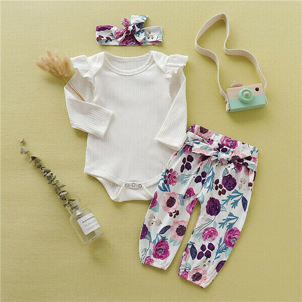 'Fiona' Floral Outfit with Headband
