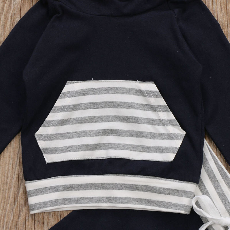 NAVY Striped Hoody Outfit