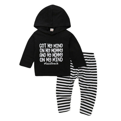 'Got My Mind On My Mommy' Hoody Outfit