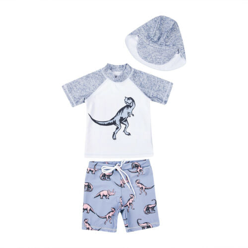 'Dinosaur' Swim Set with Cap