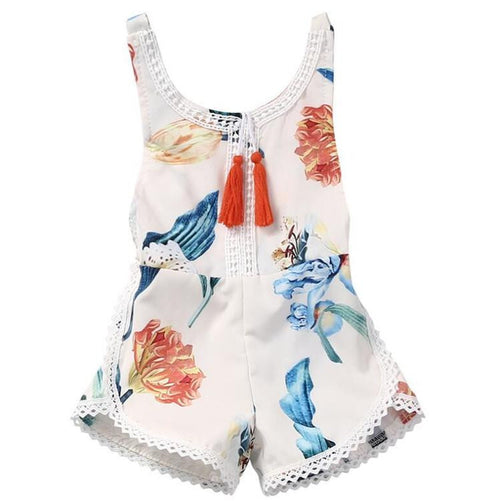 Floral Girls Summer Jumpsuit