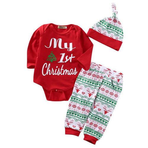 3 piece 'My 1st Christmas' Outfit