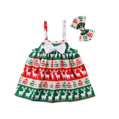 'Jingle Bells' Dress with Bow Tie