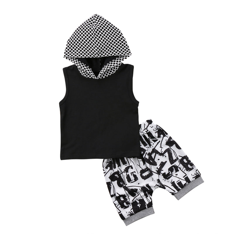 'ABZ' Hooded Summer Outfit