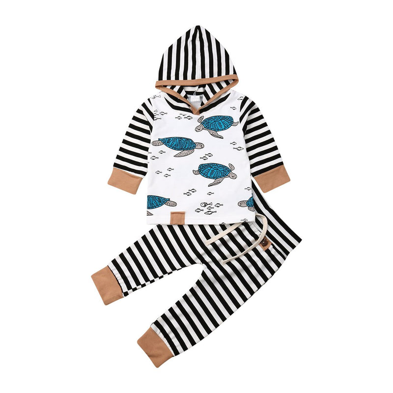 'Turtle' Striped Hoody Outfit