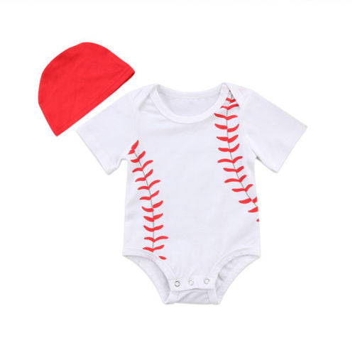 65a76e24d 'Little Baseball' Onesie with Beanie