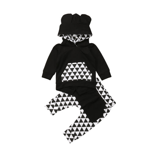 Black & White 'Triangle' Hoody Outfit