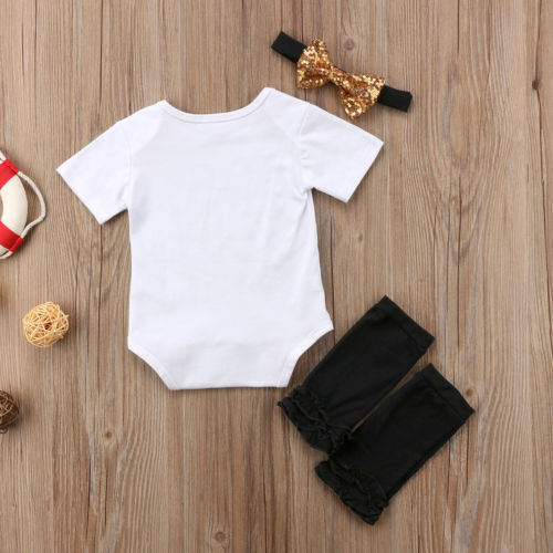 'Baby Boss' Onesie with Stockings and Headband