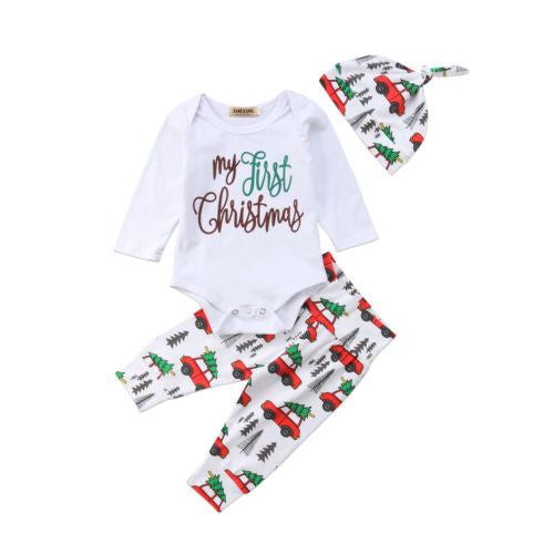 'My First Christmas' Outfit with Beanie
