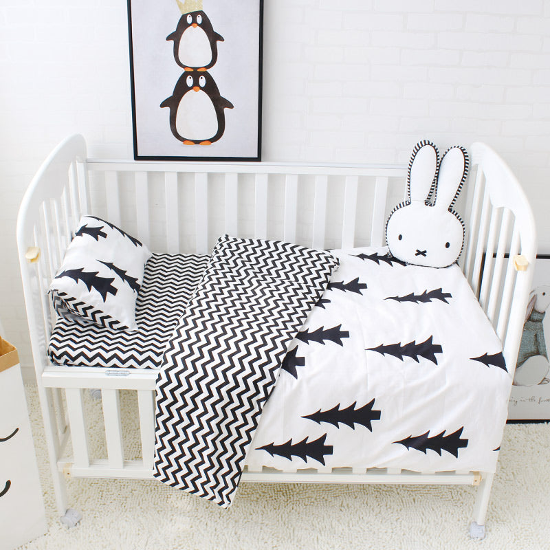 Black & White Baby Bedding Set