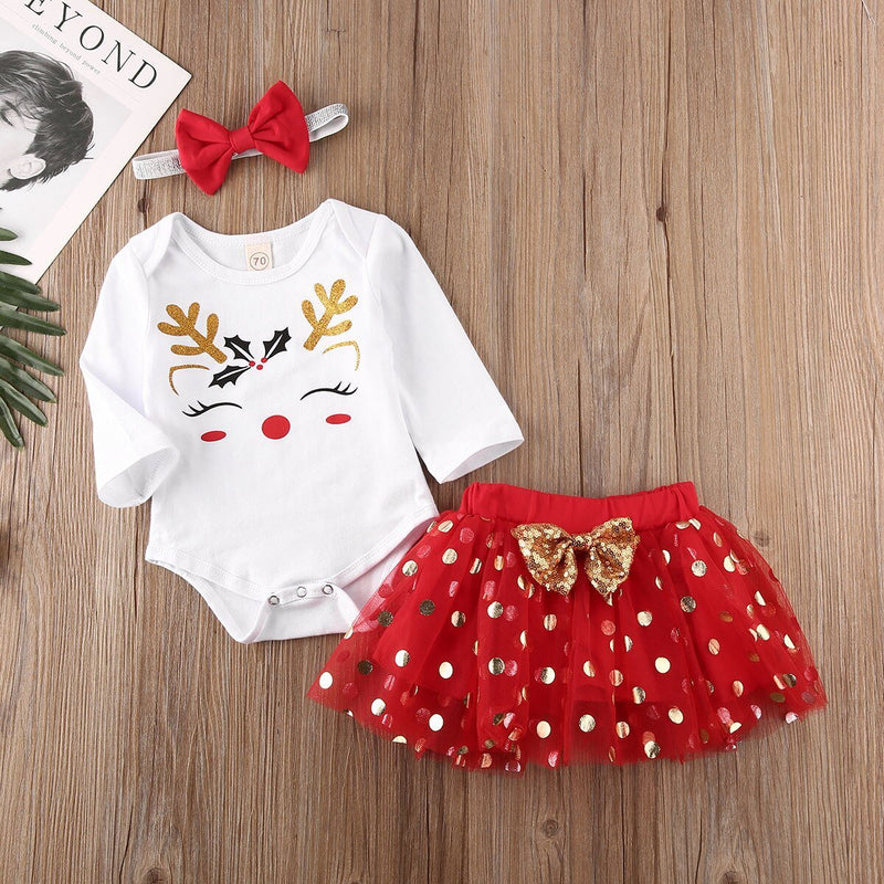 'Jolly Deer' Polka Dot Tutu Outfit