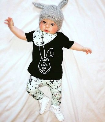 'Ain't No Bunny Like You' Outfit with Bib