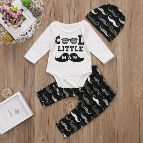 3 piece 'Cool Little Man' Outfit