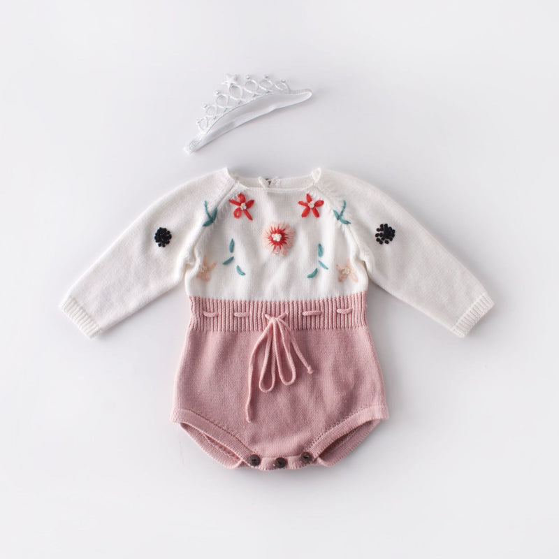FLOWERS Knitted Romper