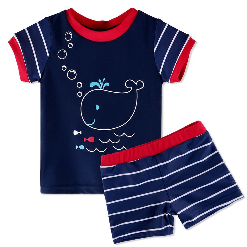 'Whale' Swim Shorts & Shirt Set