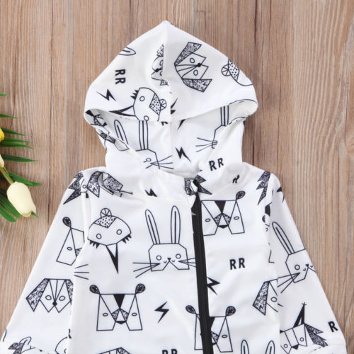 'Geometric' Hooded Jumpsuit