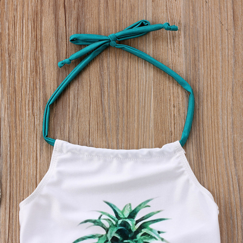 White 'Pineapple' Swimsuit
