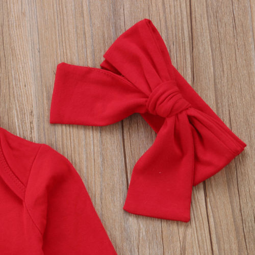 'My first Christmas' Girls Outfit with Headband