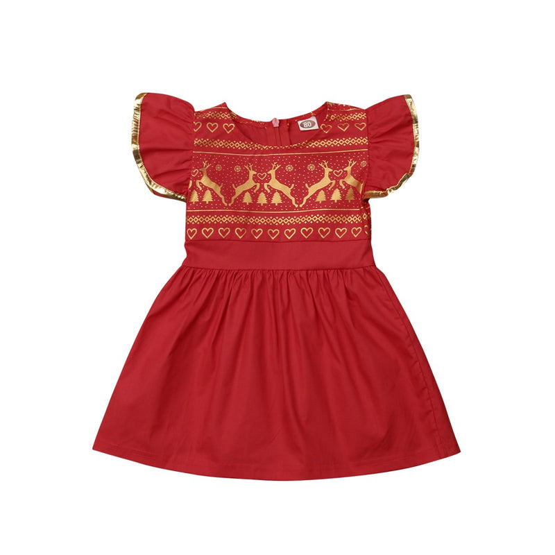'Golden Deer' Christmas Dress