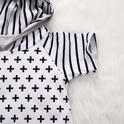 Monochrome Hooded Jumpsuit