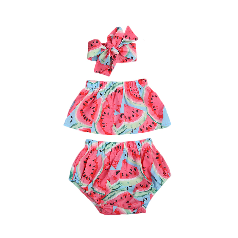 3 piece 'Pink Watermelon' Summer Outfit