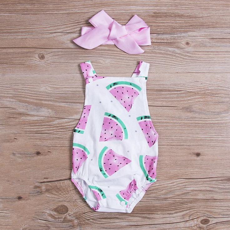 'Watermelon' Romper with Headband
