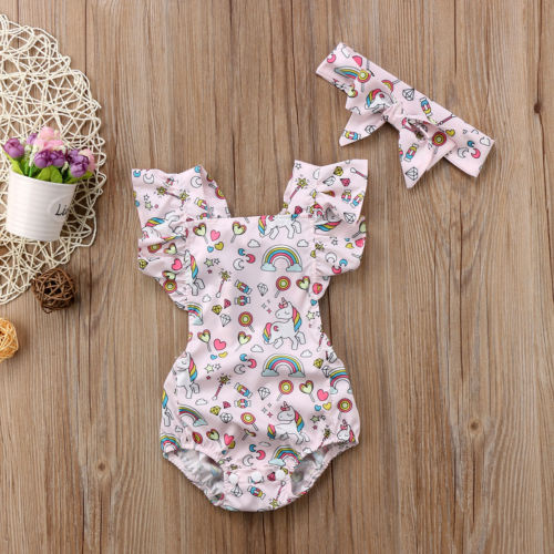 'Unicorn' Romper with Headband