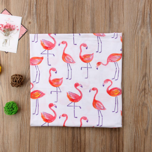 Flamingo Baby Swaddle Blanket