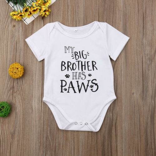 'My Big Sister/Brother Has Paws' Onesie