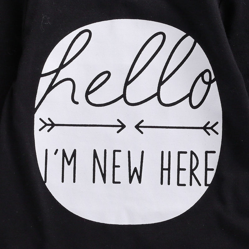 'Hello, I'm New Here' Outfit with Beanie