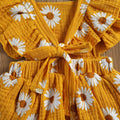 DAISY Ruffle Romper Dress with Headband
