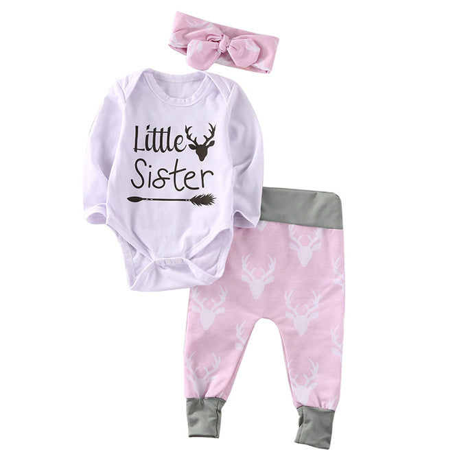 3 piece 'Little Sister' Outfit