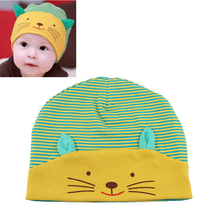 Kids Soft Cotton Cat Beanie
