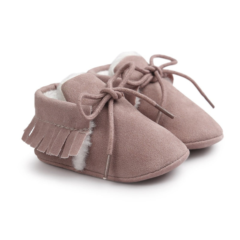 Suede Winter Baby Moccasins