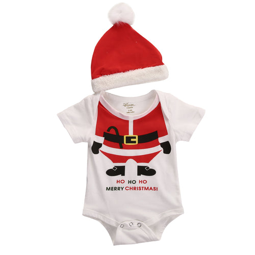 'Ho Ho Ho' Onesie with Santa Hat