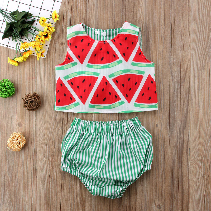 2 piece Green 'Watermelon' Outfit