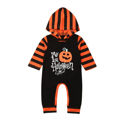 'My 1st Halloween' Hooded Jumpsuit