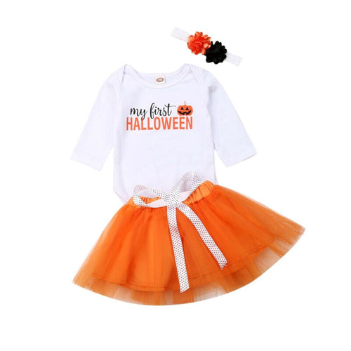 'My First Halloween' Skirt Outfit with Headband