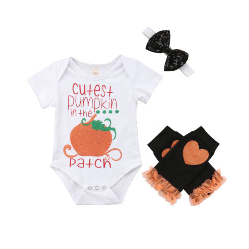 'Cutest Pumpkin in the Patch' Outfit with Stockings