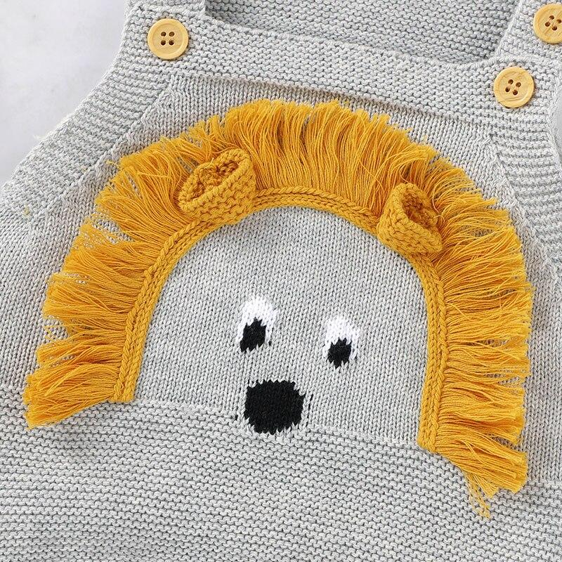 'Little Lion' Knitted Romper