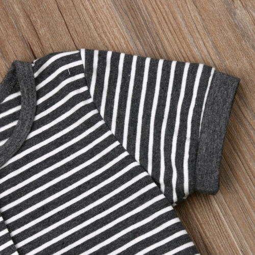 BENJI Striped Button Onesie