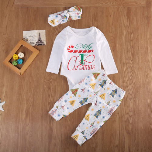 'My 1st Christmas' Outfit with Headband