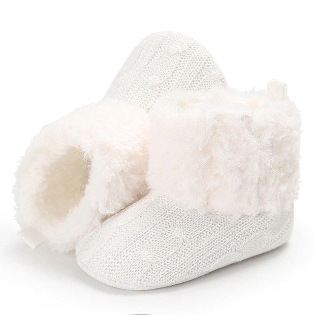 Crochet Knit Baby Winter Boots