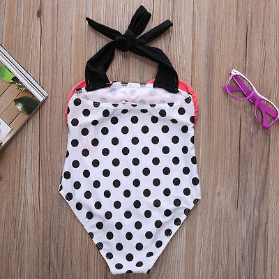Polka Dot Bow Tie Swimsuit