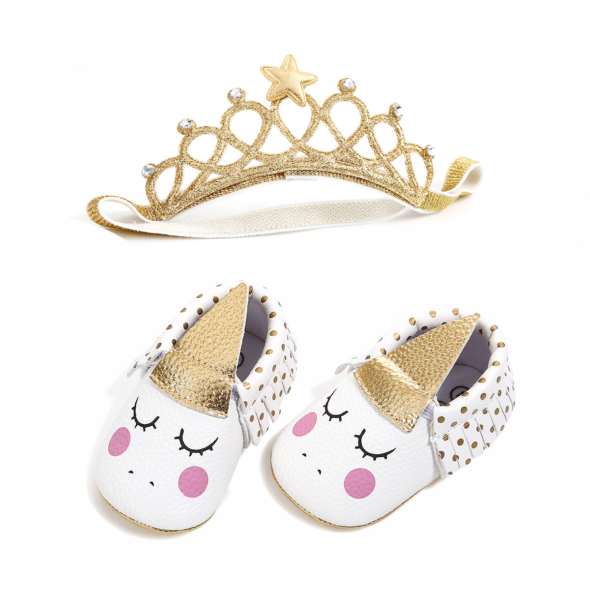 bced01a2cb  Unicorn  Shoes with Crown – TenBazaars