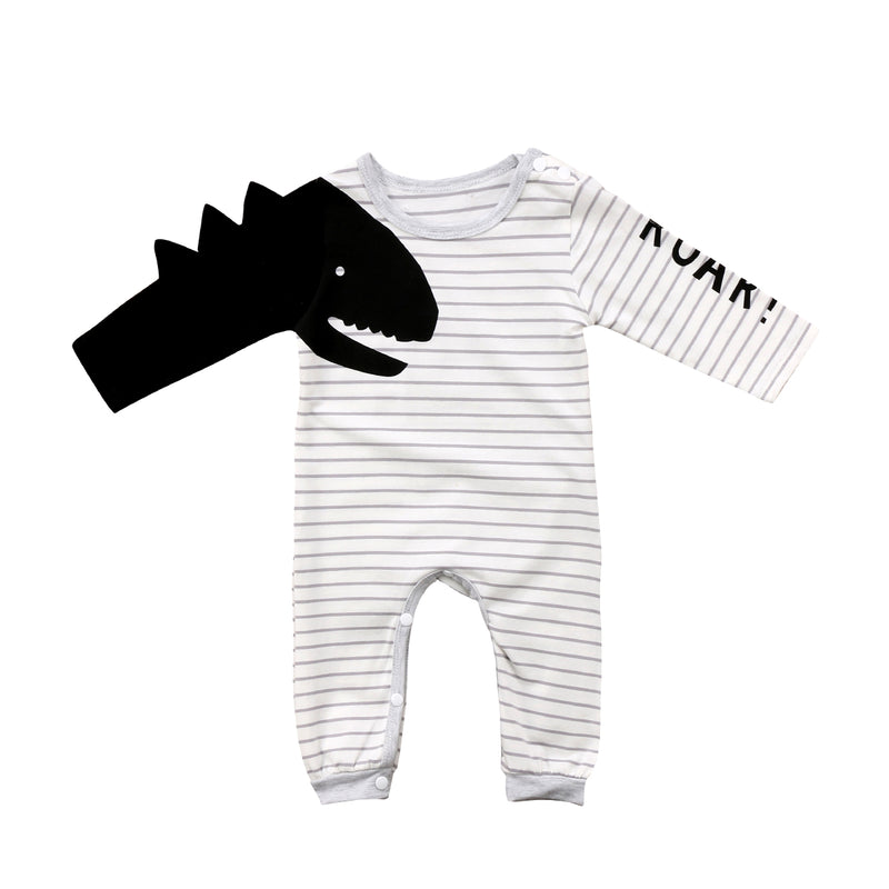 Black & White 'Dinosaur' Jumpsuit