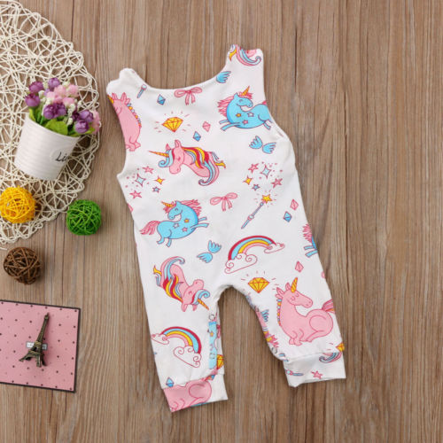 Girls 'Unicorn' Jumpsuit
